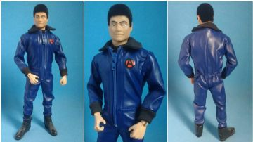LoucoPorBonecos - Gi Joe Super Joe Falcon - BLUE LEATHER JUMPSUIT